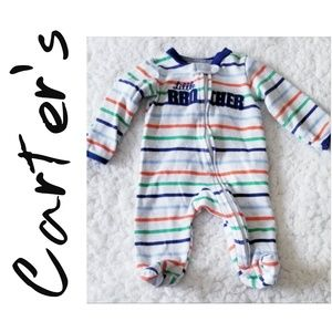 "*Carter's* Boys, 3mos, ""Little Brother"" Footie"